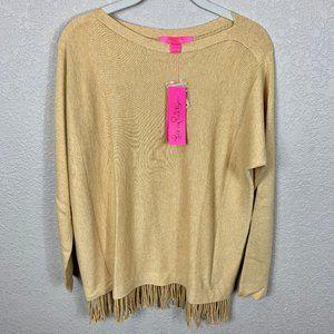 NWT Lilly Pulitzer Glenda Coolmax Fringe Sweater S
